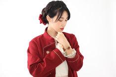 セイバーモデルの腕時計使用例。