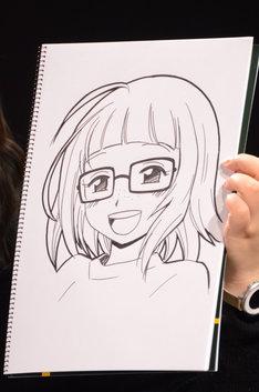 小野寺浩二が描いたツネコこと常田美晴。
