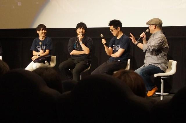 左から梶裕貴、中村悠一、齊藤優氏、吉野弘幸。