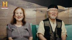 「ザ・バイオグラフィー『松本零士』」より、牧美也子(左)、松本零士(右)。