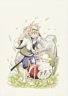 「サムライ8(エイト) 八丸伝」の告知カット。(c)岸本斉史・大久保彰/集英社