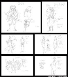 「ONE PIECE STAMPEDE」尾田栄一直筆の衣装設定画。(c)尾田栄一郎/2019「ワンピース」製作委員会