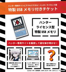 「ハンターライセンス型USB」付き前売り券の告知ビジュアル。