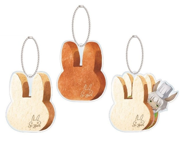 """Rabbit locust Nanaki rabbit bread bread Acrylic key holder (normal ver., Konpari ver., Sandwich ver.)"""
