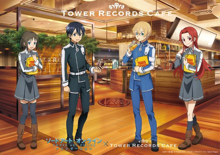 「ソードアート・オンライン アリシゼーション × TOWER RECORDS CAFE」コラボビジュアル
