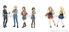 「ソードアート・オンライン アリシゼーション × TOWER RECORDS CAFE」描き下ろしキャラクタービジュアル