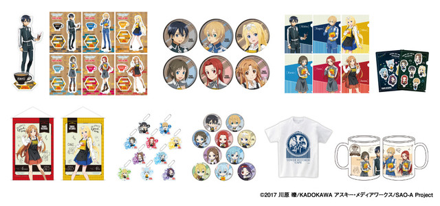 """""""Sword Art · Online Aliasing × TOWER RECORDS CAFE"""" Collaboration Goods"""