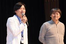 左から下野紘、プロデューサーの大橋孝史。