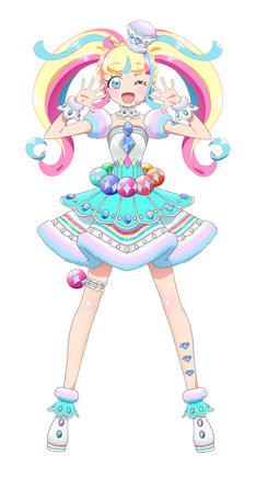 だいあ。「ジュエルオーディション」の司会者で、正体は謎の女の子。CGで作られたバーチャルアイドルという噂も。