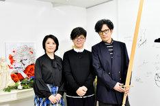 「ゴロウ・デラックス」より。左から外山惠理アナウンサー、坂本眞一、稲垣吾郎。