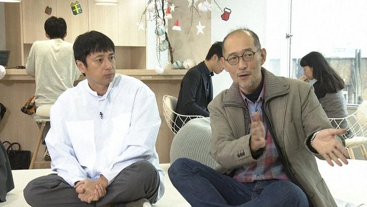 「人間ってナンだ?超AI入門」シーズン2の第3回「発想する」より。左から徳井義実、藤田和日郎。(写真提供:NHK)