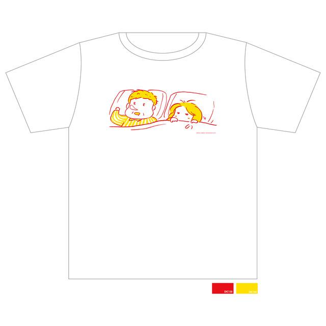 特製Tシャツのイエロー柄。