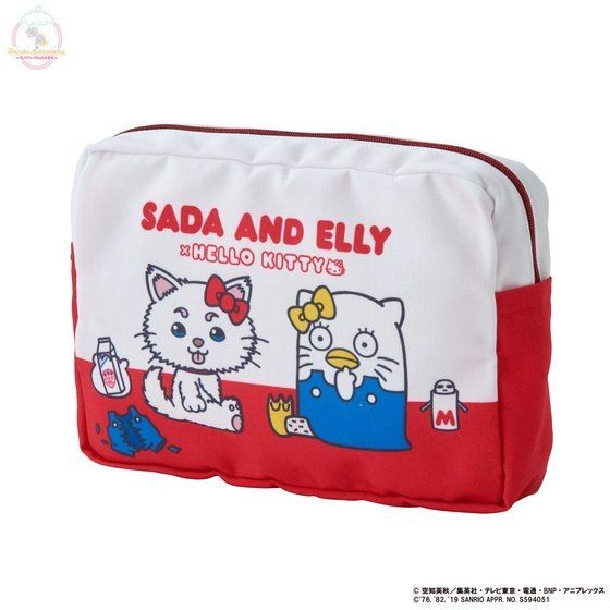 「銀魂×Sanrio characters ポーチ / SADA AND ELLY(レッド)」