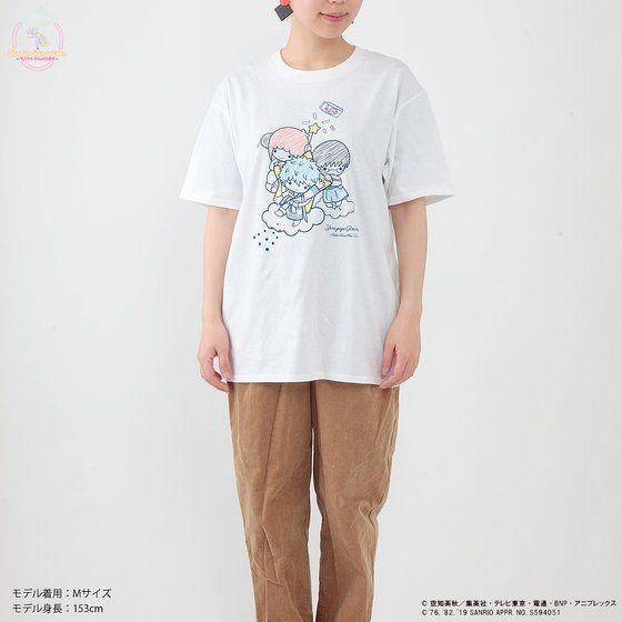 「銀魂×Sanrio characters Tシャツ / Yorozuya Ginchan」着用イメージ。