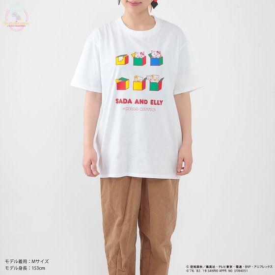 「銀魂×Sanrio characters Tシャツ / SADA AND ELLY」着用イメージ。