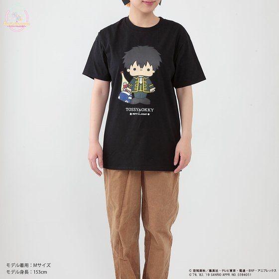 「銀魂×Sanrio characters Tシャツ / TOSSY」着用イメージ。
