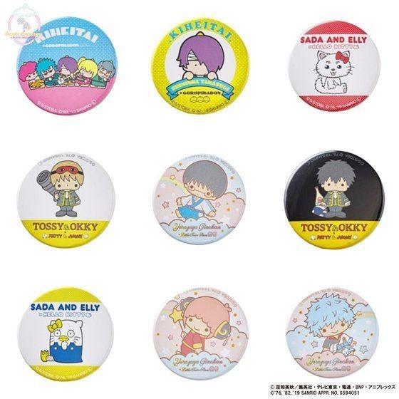 「銀魂×Sanrio characters トレーディング缶バッジ」
