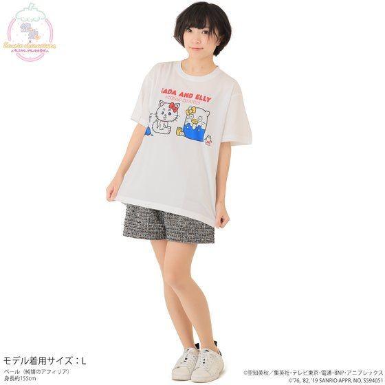 「銀魂×Sanrio characters フルカラーTシャツ / SADA AND ELLY」着用イメージ。