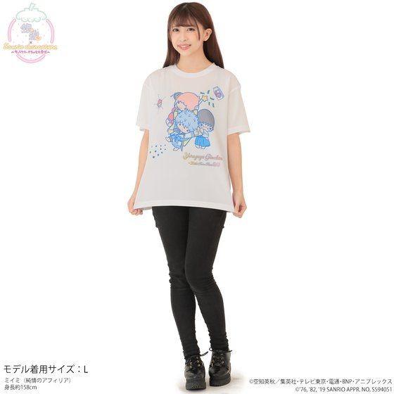 「銀魂×Sanrio characters フルカラーTシャツ / Yorozuya Ginchan」着用イメージ。