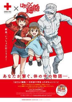 「はたらく細胞」と日本赤十字社のコラボキャンペーンビジュアル。