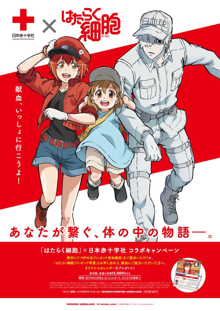 「はたらく細胞」と日本赤十字社のコラボキャンペーンビジュアル。 [画像ギャラリー 1/2] - コミックナタリー