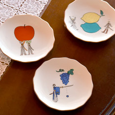 「九谷焼 花型皿」