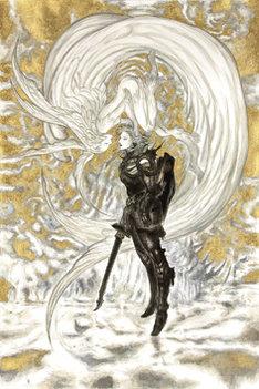 天野喜孝《ファイナルファンタジーXIV 嵐神と冒険者》2010年 アクリル・紙 FINAL FANTASY XIV/(c)SQUARE ENIX CO.,LTD. All Rights Reserved./IMAGE ILLUSTRATION:(c)YOSHITAKA AMANO