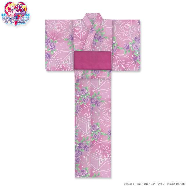 「クリスタルスターコンパクト柄(ピンク)」の浴衣。