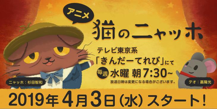 TVアニメ「猫のニャッホ」放送情報決定ビジュアル