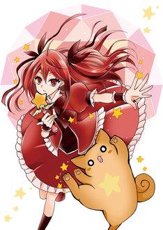 「鳩子さんは時々魔法少女」イラスト