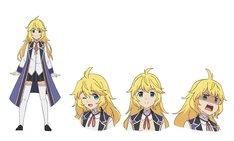 アリス=コーナー(CV:久保田未夢)。いつも明るいクラスの元気印で、攻撃魔法を得意とする。