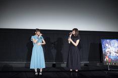 「劇場版 ダンジョンに出会いを求めるのは間違っているだろうか - オリオンの矢 -」ヒット御礼舞台挨拶の様子。