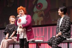 左から藤井ゆきよ、野沢雅子、神谷浩史。