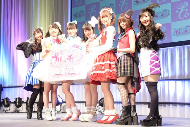 左から厚木那奈美、久保田未夢、林鼓子、佐々木李子、芹澤優、若井友希、森嶋優花。