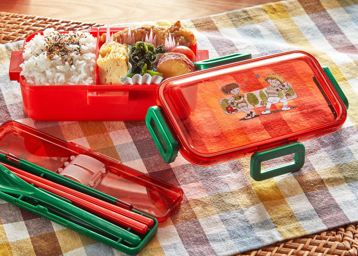 「4点ロックの1段お弁当箱&コンビセット」使用イメージ