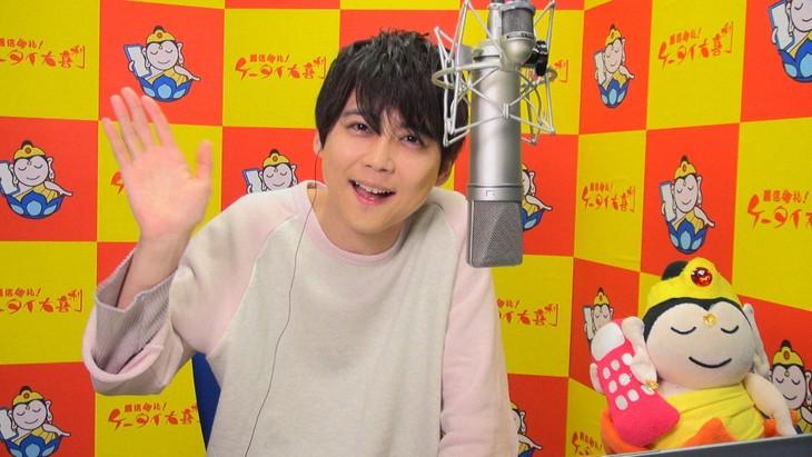 「着信御礼!ケータイ大喜利」より、梶裕貴。(c)NHK