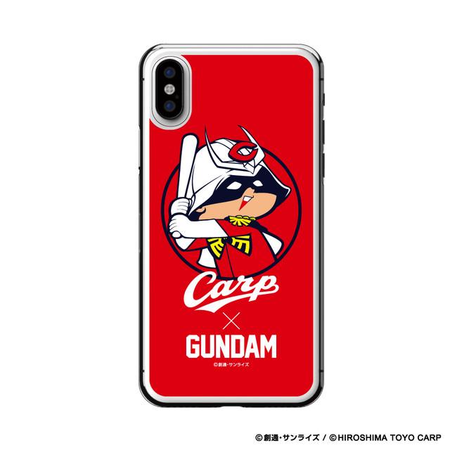 「ガンダム×カープ iPhoneクリアケースX/XS用(シャア坊や)」