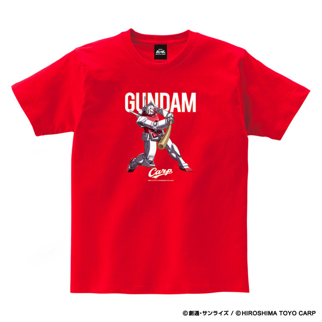 「ガンダム×カープ Tシャツ」