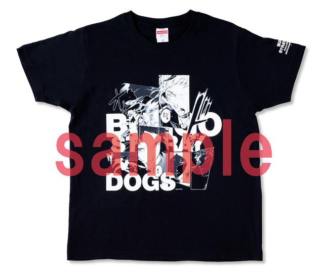 誌上通販されている「文豪ストレイドッグス」のTシャツ。
