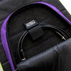 エレキギター用ギターバッグの前面ポケット部分。