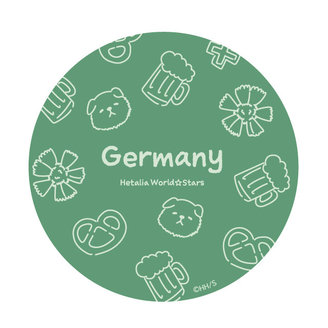 ドイツのラメコンパクトミラーの絵柄。