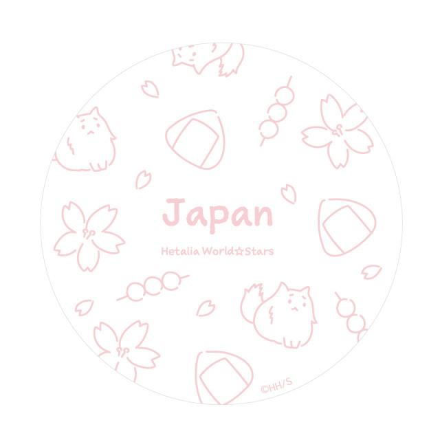 日本のラメコンパクトミラーの絵柄。