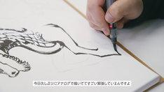 「真島ヒロ先生・キリンの聖獣真剣お絵描き60分一本勝負」より。