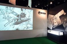「ORIGIN」の展示。