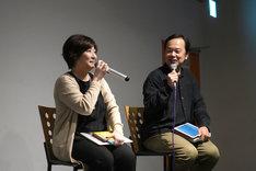 左から永岡智佳監督、諏訪道彦プロデューサー。