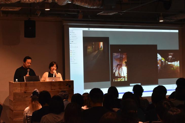左から諏訪道彦プロデューサー、永岡智佳監督。