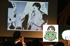 野田彩子は「ダブル」でもキャラクターの手先の動きをこだわって描いているそう。