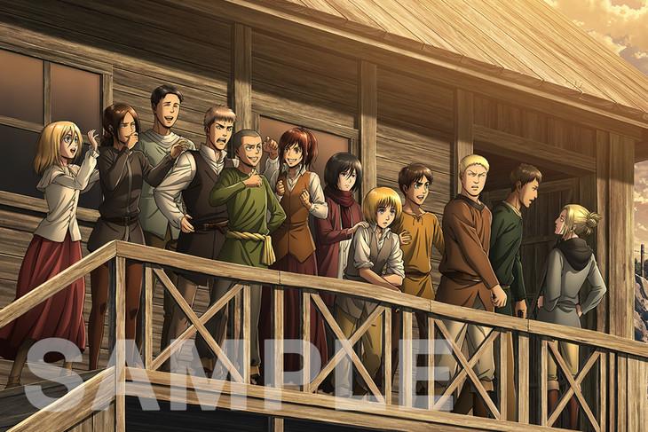 「進撃の巨人展FINAL」の描き下ろしアニメイラスト第2弾。