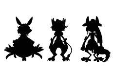 悠木がキャラクター原案をつとめる獣人のシルエット。