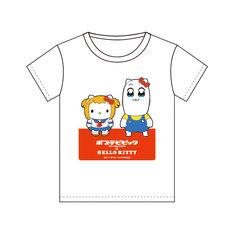 「ポプテピピック×ハローキティ」のTシャツ。